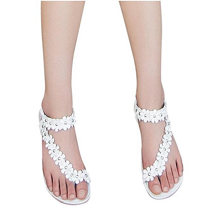 391a12bf7b76a Summer Bohemia Sweet Beaded Sandals Clip Toe Sandals Beach Shoes WH 35