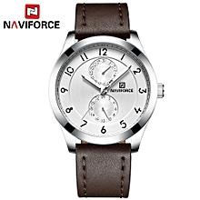 NF3004 Man Watch Quartz Watch Leather 3ATM Waterproof Date Hour Wrist Watch