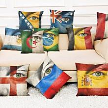 Honana BX The 2018 World Cup Cotton Linen Cushion Pillow Case Eye National Flag Pillow Cover