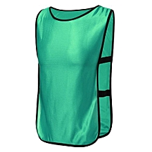 SPORTS Soccer Football Basketball TRAINING Bibs Vest Netball Hockey Adult Green