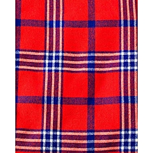 Maasai Shuka - Red - Multicolour