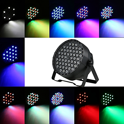 54leds Rgbw Led Light Bright Dmx Lighting Projector Lights Voice Activated Dj Stage For Party Show Disco Holiday U K Plug