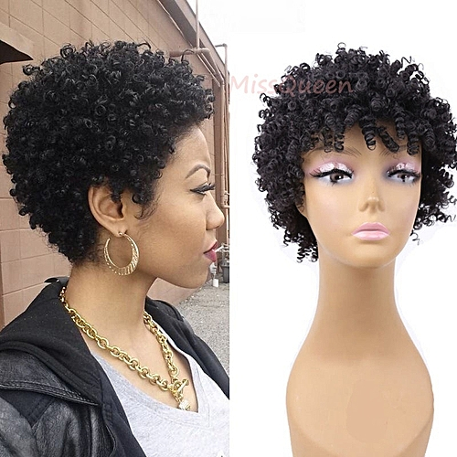 Fashion Beautiful Short Curly Hair Full Wigs
