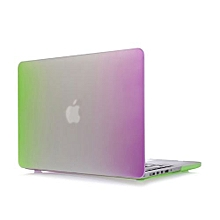 """15"""" Pro With HDMI Port Case, Rainbow Hard Rubberized Cover For 2012-2015 Macbook 15.4 Retina, Purple/Green"""