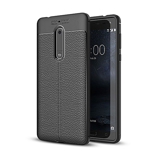 wholesale dealer 238e8 9a650 Shock Proof Carbon Fiber Rugged Armor Soft Back Case for Nokia 8
