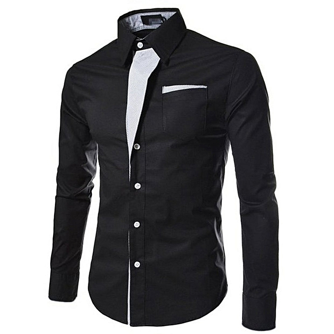 f7ed582ea7 Shirts Men Striped Shirt Cotton Slim Fit Long Sleeve Shirt Men Model Shirts