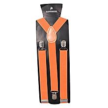 Orange Torrid Men's Adjustable Suspenders With Silver Clip