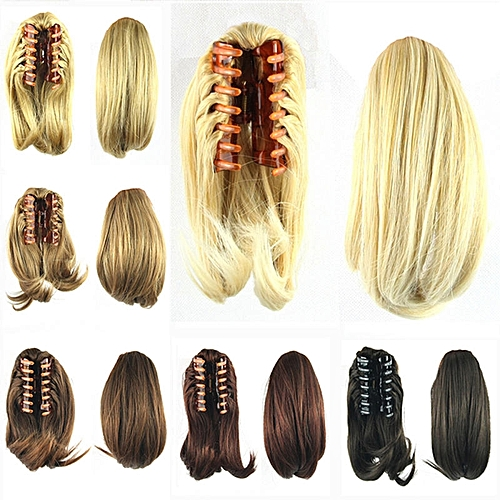 Generic Newest Short Wavy Ponytail Wigs Synthetic Hair Extensions ...