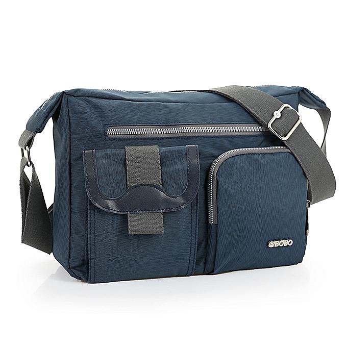 5159e03ad3a4 New Fashion Men's Shoulder Bag Vintage Denim and Nylon Men Messenger Bag  Korean Style Cool Women Waterproof Handbag AWM89(Blue)