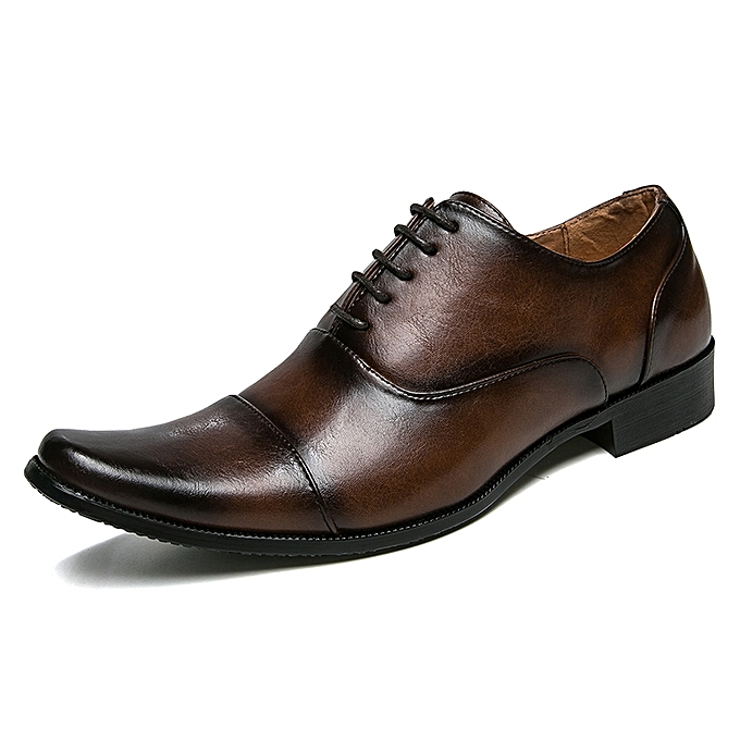 Genuine Leather Office Derby Shoes For Men Formal