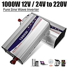 1000W Pure Sine Wave 50HZ Car Power Inverter 12V To 220V Charger Converter