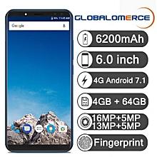 "X - 6.0"" 4G Smartphone - Android 7.1 4GB/64GB - OTG Fingerprint OTA 6200mAh EU - Blue"