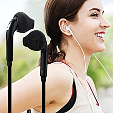 Earphone Sport Built-in Mic Volume Control For Samsung Galaxy S6 Iphone Android Phone Black
