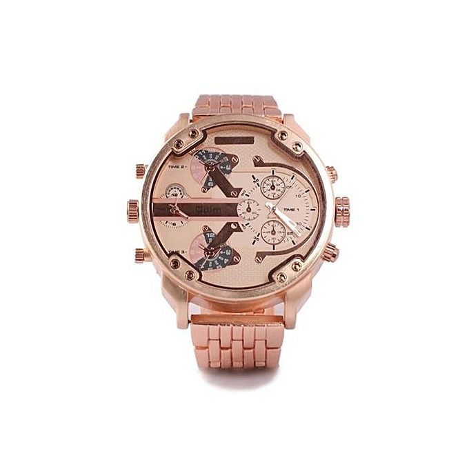 74369df9adc Oulm Luxury Brand DZ Men Alloy Metal Watch 4 Colors Big Size Army Dual Time  Male