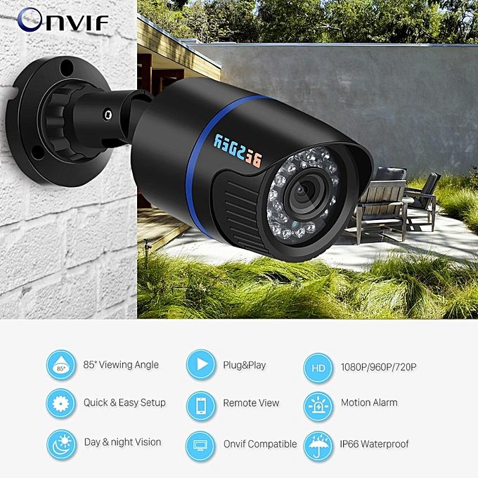 BESDER 1080/720p Full HD IP Camera Bullet Outdoor Waterproof Security  Camera ONVIF XMEye 20m Night Vision Motion Detect RTSP P2P(960p (DC  12V))(3 6mm)