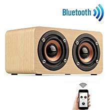 Wooden Portable Bluetooth Speaker Wireless Retro Bluetooth Speaker 3D -Beige