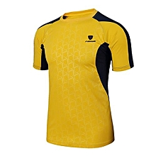 Best Sale Fashion Men's Joint Casual Sports Summer Top Shirt-Yellow
