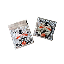 100pcs/bag Halloween Cap Plastic Bag Adhesive Candy Cookie Packaging Bags - Multicolor