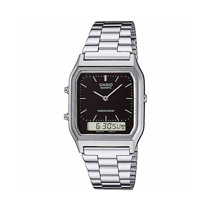 CASIO Classic Vintage Series Analog-Digital Black Dial Men s Watch ... 1115da828870