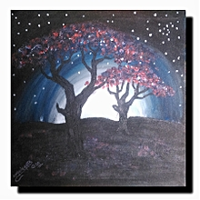 Landscape wall art - 45cm by 45cm - multicolored