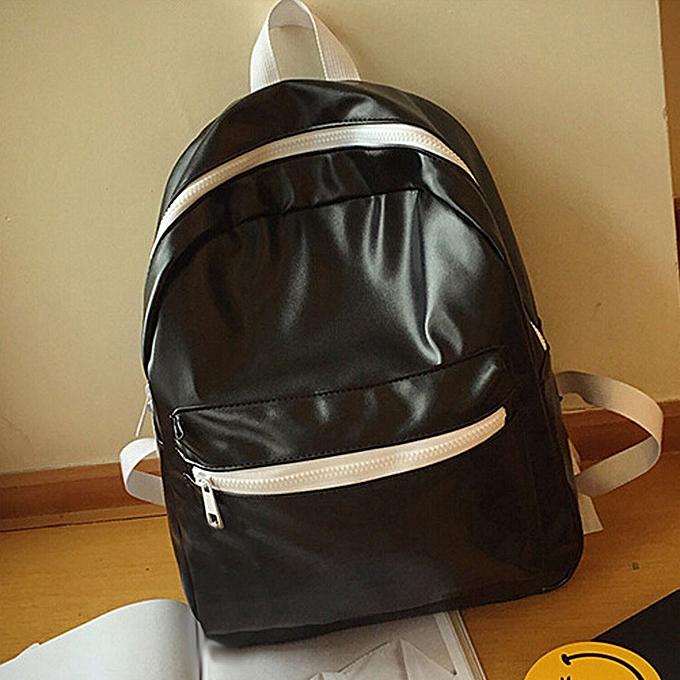 17f9d93e1bb guoaivo Girls Boys Leather School Bag Travel Backpack Satchel Women  Shoulder Rucksack BK