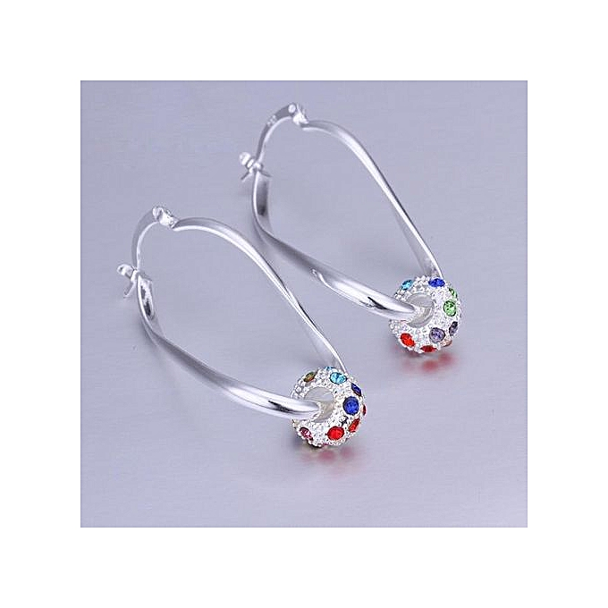 5e8f9b9f8 Seioure Platinum Or Gold Plated Sterling Silver Earrings Cubic Zirconia  Stud Earrings As Shown