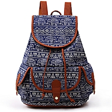 Fashion Canvas Backpack For Women Girls Boys Casual Book Bag Sports Day Pack
