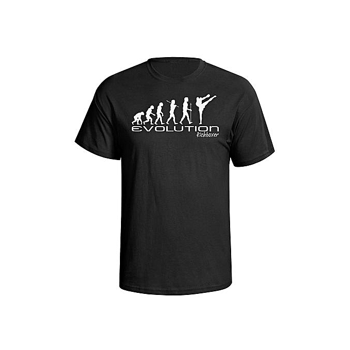 62c371390 Fashion Men's T-Shirt Evolution Of A Kickboxer Mens Kickboxing Martial Art  Combat Sport Funny