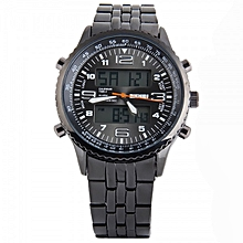 "1032 Men""s Quartz LED Digital Watch Men Sports Watches Relogio Masculino Top Fashion Stainless Steel Military Wristwatches"