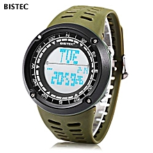 006 Male Digital Watch LED Display Alarm Stopwatch Men Sport Wristwatch-Green-Green