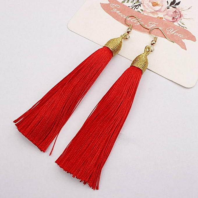 770975ec5 Fashion Women Temperament Elegant Long High Quality Bohemian Tassel ...