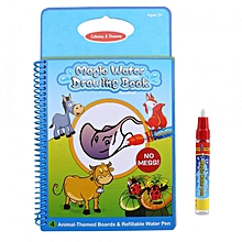 Baby Kids Water Drawing Book Painting Board With Pen Learning Toys Reusable Animal Pattern
