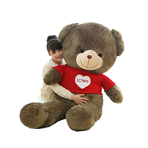 Smiling Teddy Bear with Red Sweater Soft Stuffed Plush Toy 120cm