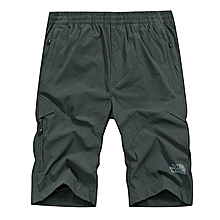 Mens Multi-Pocket Elastic Quick Drying Knee-Length Pants Thin Sports Outdoor Shorts