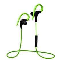 Q10 Wireless Sports Running Music Sweatproof Bluetooth Earphone Earhook Headphones(Green)