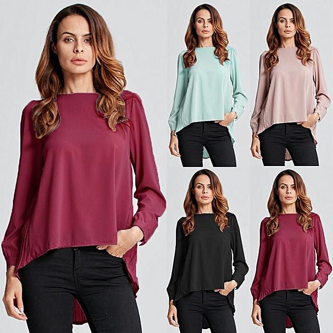 0d7fedc0f26 ... ZANZEA Women Long Sleeve Casual Loose Tops Autumn Blouses Oversized  Chiffon Solid Shirts Plus Size Blusas