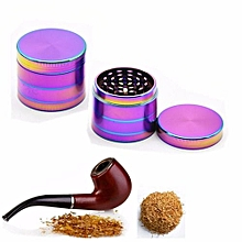 50MM Herb Grinder Rainbow 4 Layers Tobacco Cigar Smoke Crusher Crusher Alloy NEW
