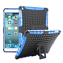 Fashion Dual Layer 2 in 1 Rugged Hybrid Hard Case For iPad Air iPad 5 BU-Blue