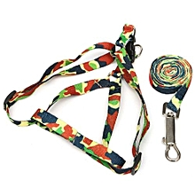 Small Dog Pet Puppy Cat Adjustable Nylon Harness With Lead Leash 6 Colors New