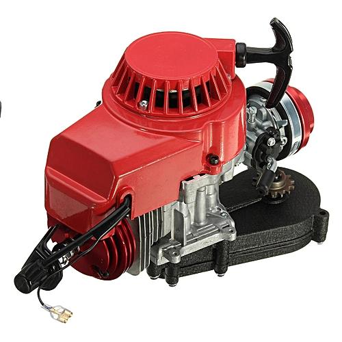 2 Stroke Engine Motor WITH CARB Air Filter Gear Box 49CC Mini Dirt Bike ATV  Quad (Red)
