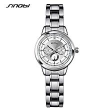fashion women wrist watches stainless steel watchband ladies geneva quartz clock female dress wristwatches montres femmes
