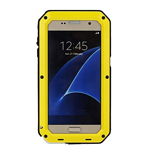 CO Heavy Duty Metal Phone Cover Waterproof Shockproof Protect Case for Samsung-Yellow