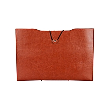 Riginal Jumper EZbook Air PU Leather Storage Bag - Brown