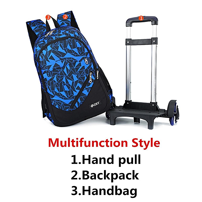 87a6228f891 ... 3Pcs Kids Teenagers School Bags Boy Removable Trolley Backpack Bag With  Wheels  2 wheel ...