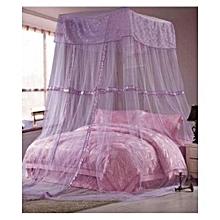 Square Top Decker mosquito net Free Size- purple