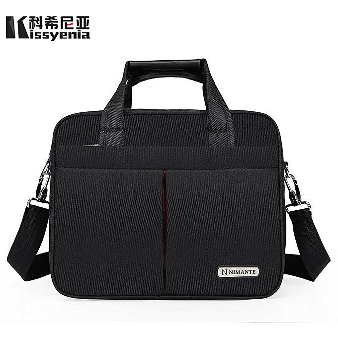 69241ed5b811 Kissyenia 13 14 15 inch Laptop Briefcase Men Travel Business Messenger Bags  A4 Computer Suitcase Waterproof Shoulder Bags KS1249(TypeB Black)