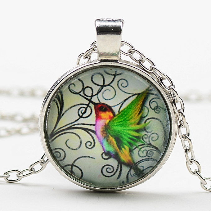 0702d8093 africashop New Hummingbird Jewelry Blue Hummingbird Necklace Charm Pendant  Necklace