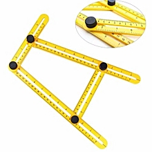 New Multifunctional Angle Model Angle Ruler Plastic Measuring Tool