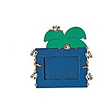 Animal Picture Frame - Monkey - Green & Blue