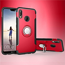 KZ Slim Fit Hybrid Dual Layer Armor Shock Absorption Rugged Defender with Ring Holder Kickstand Drop Protection Soft Rubber Bumper Case Cover for Huawei Nova 3e   XXZ-Z